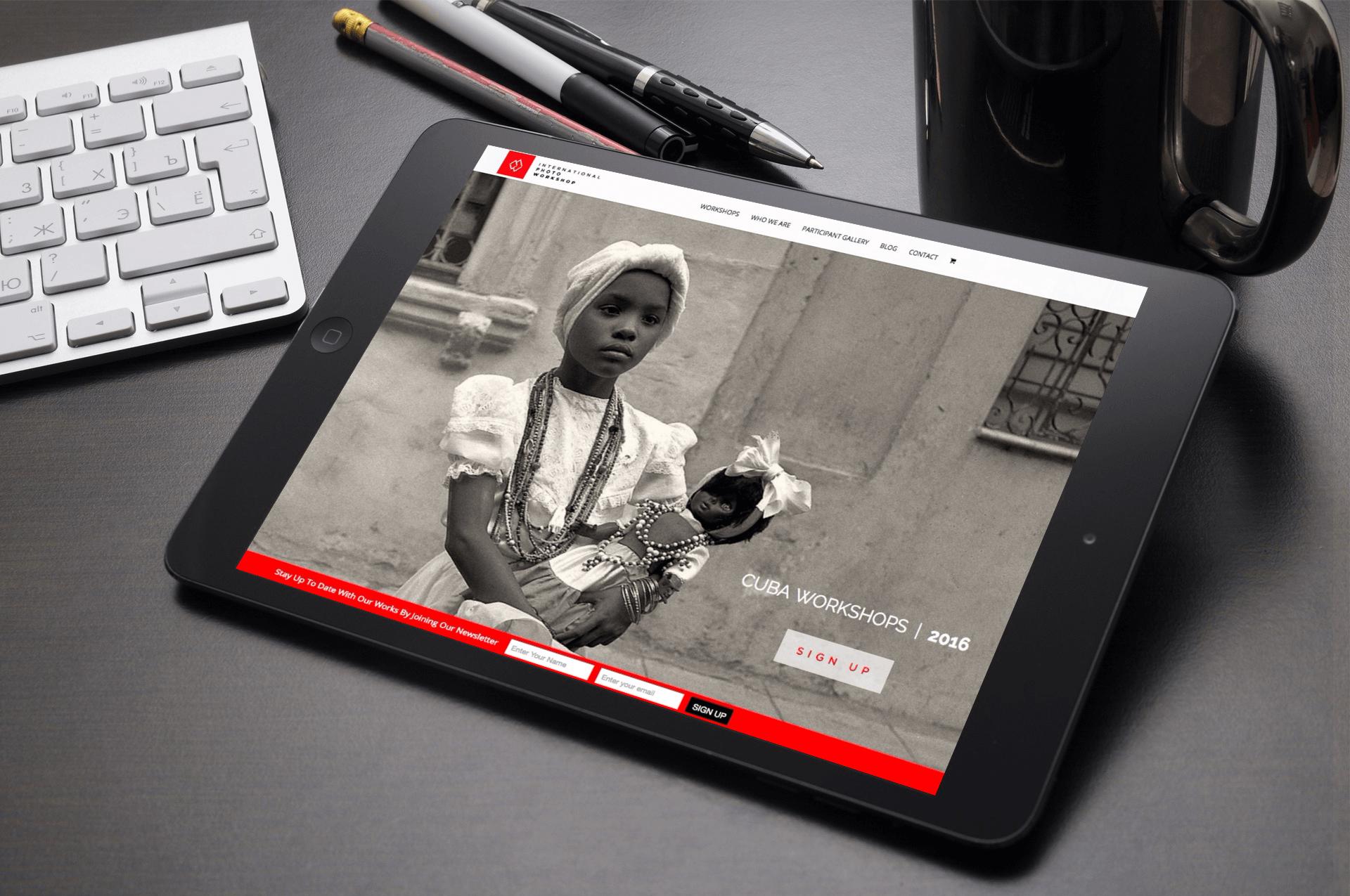 DAVEY DUARTE INTERNATIONAL PHOTO WORKSHOP UI UX DESIGN