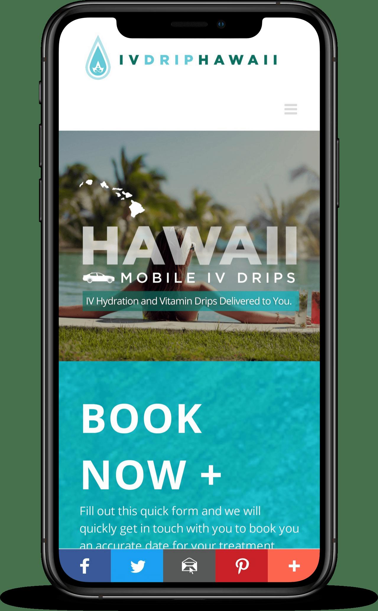 Designing Hawaii Web Design ivdriphawaii Case Studies