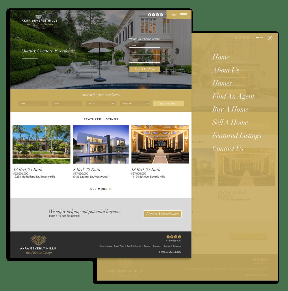 Real estate web design los angeles Davey Duarte 1