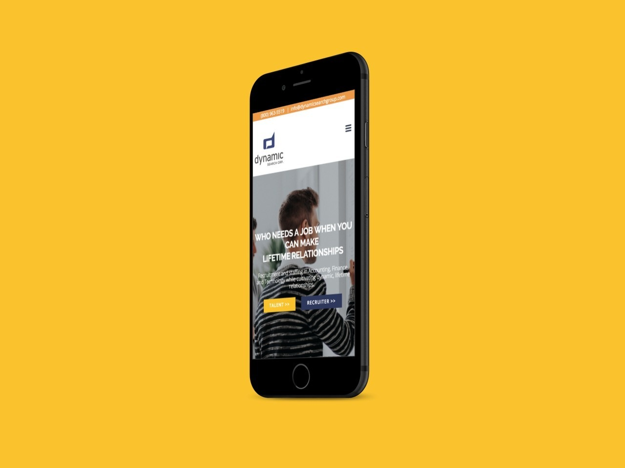 Staffing Agency Custom Website Design for